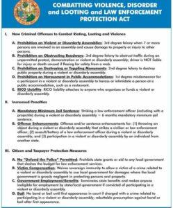 FL Gov DeSantis has a comprehensive bill to target BLM/antifa rioting. Criminali