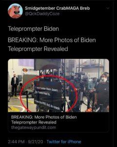 Teleprompter Joe