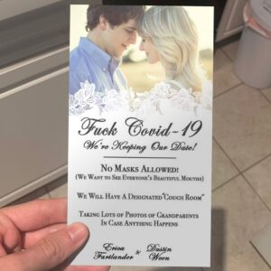 This wedding invitation is going viral on Twitter right now. Never mind that it'
