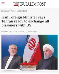 Iran Foriegn Minister says Tehran ready to exchange all prisoners with US..