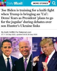 Read more about the article Dems fear President's plans are to go for the jugular during debates over son Hu