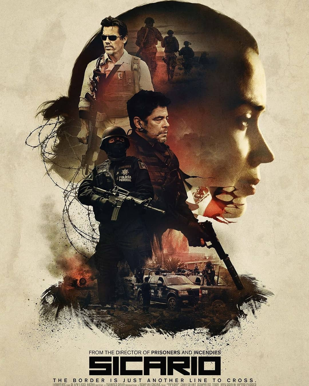 Tonights movie selection. Sicario.  I grew up in a border town, an active one. W
