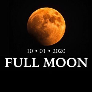 Tomorrow or the first of two full moons for the month of October, the second one