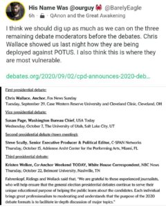 Read more about the article I think we should dig up as much as we can on the three remaining debate moderators before the debates.