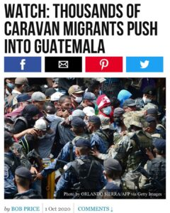 There's a new Soros-funded Central American caravan aggressively charging in to
