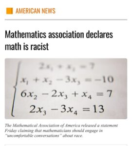 Math is now considered racist.