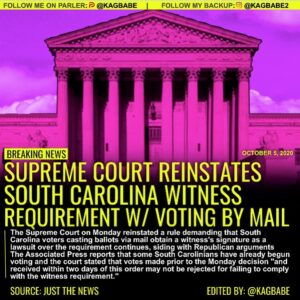 BREAKING NEWS: The Supreme Court on Monday reinstated a rule demanding that Sou