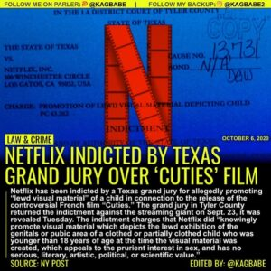 """Netflix has been indicted by a Texas grand jury for allegedly promoting """"lewd vi"""