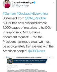 Read more about the article HEYO! Looks like more docs headed to Durham from DNI Ratcliffe. Also looks like