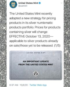 Sounds like you should buy your silver now if you can.