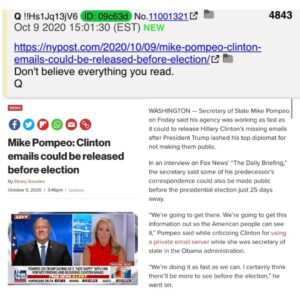 Read more about the article Q says Don't believe  everything  you read in regards to Axios report nothing wi