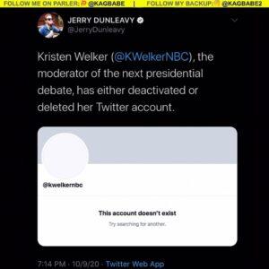 Presidential debate moderators are deactivating their social media accounts bec