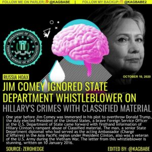 Read more about the article One year before Jim Comey was immersed in his plot to overthrow Donald Trump, th