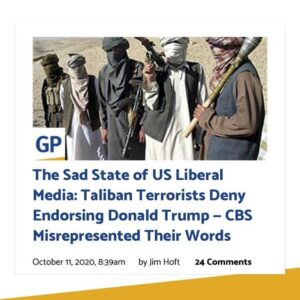 Afghan militant group says CBS misrepresented its words. They deny endorsing Pre