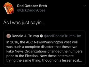 Same shit from 2016, I need to find all those fake ass polls to put all together
