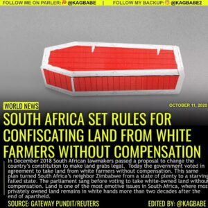 The parliament sang before voting to take white-owned land without compensation.