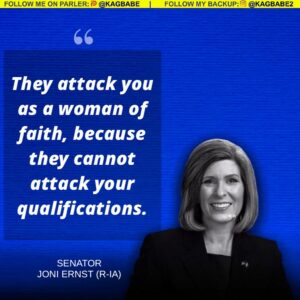 """""""They attack you as a woman of faith, because they cannot attack your qualificat"""