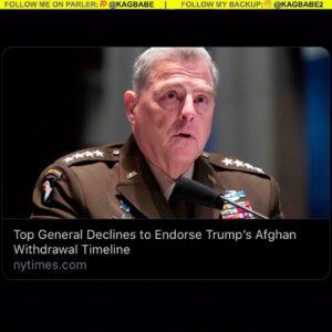 Top General Declines to Endorse Trump's Afghan Withdrawal Timeline Mark Milley