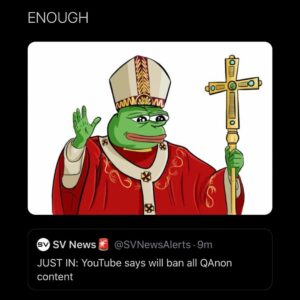 YouTube says it will ban all Qanon content