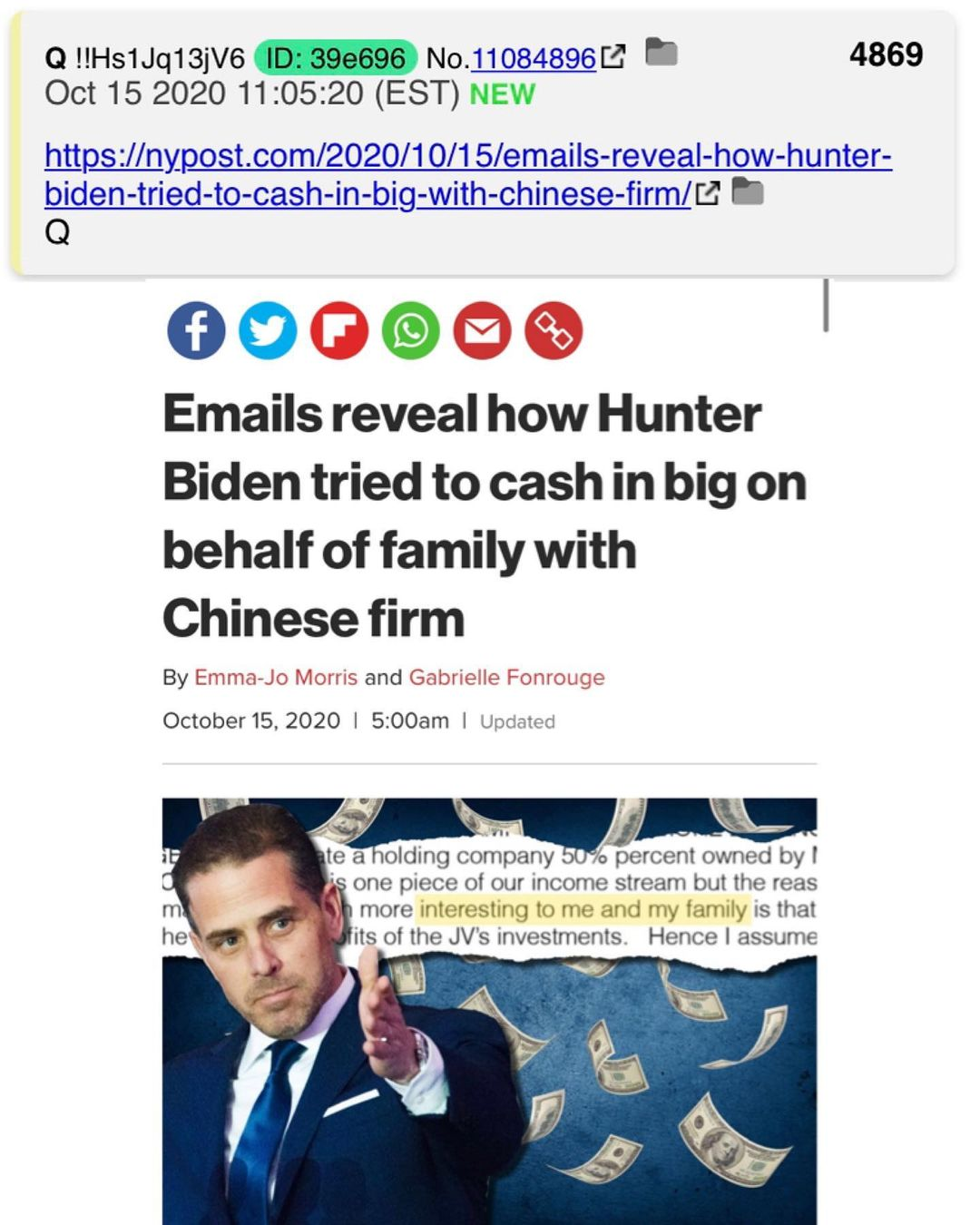 You are currently viewing Emails reveal how Hunter Biden tried to cash in big on behalf of family with Chinese firm