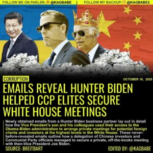 EMAILS REVEAL HUNTER BIDEN HELPED CCP ELITES SECURE WHITE HOUSE MEETINGS
