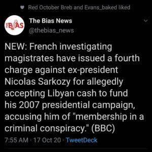 Who stole Q's Gold (Qaddafi)? Sarkozy knows