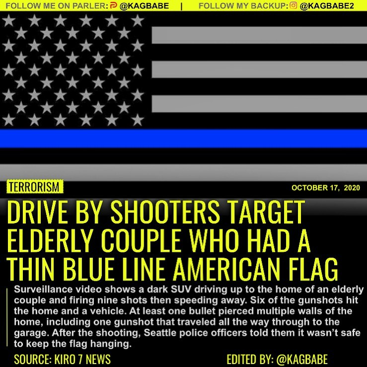 Drive By Shooters Target Elderly Couple Who Had A Thin Blue Line American Flag