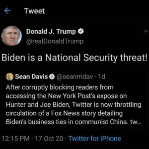 Biden is a National Security threat!