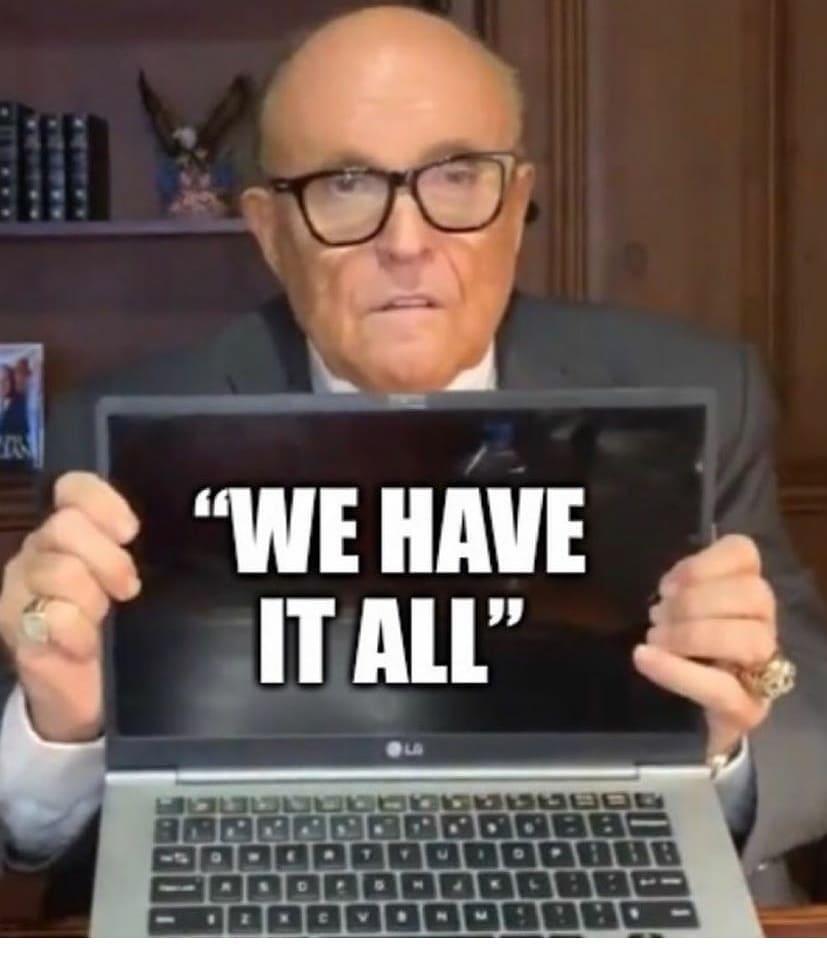 "Rudy Giuliani ""We have it al!l"""