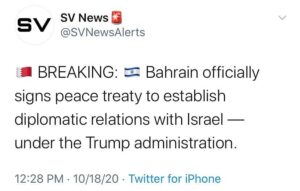 Bahrain officially signs peace treaty to establish diplomatic relations with Israel — under the Trump administration
