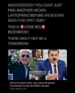 More trouble for Joe Biden as Ukrainian lawmaker claims second laptop belonging to Hunter's business contacts in the country has been seized by law enforcement