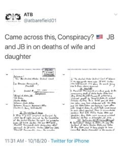 Came across this, Conspiracy? JB and JB in on deaths of wife and daughter