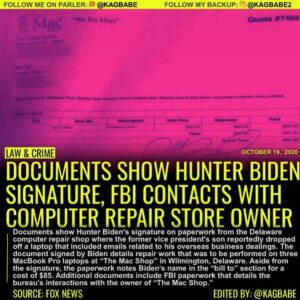 Documents obtained by Fox News appear to show Hunter Biden's signature on paperw
