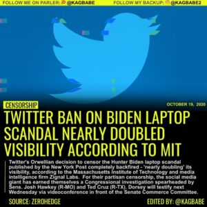 Twitter's Orwellian decision to censor the Hunter Biden laptop scandal published