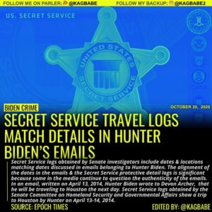 Read more about the article Secret Service logs obtained by Senate investigators include dates & locations m