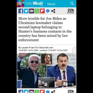 Russian contact reports that a second lap top exists belonging to Hunter Biden.