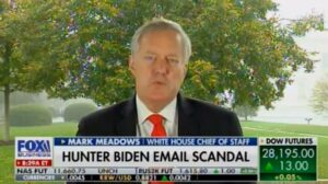 At one point Mark Meadows told Maria that whistleblowers allege the Biden Crime