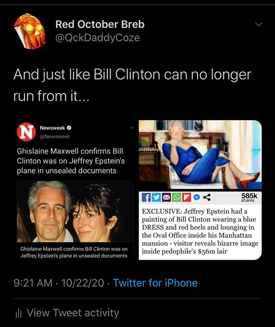 Ghislaine Maxwell confirms Bill Clinton was on Jeffrey Epstein's plane in unsealed documents