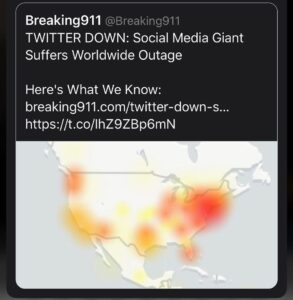 Read more about the article Twitter is down worldwide. Curious timing and curiouser after it has take  down