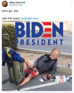 Imagine your only hope being joe fuggin Biden.