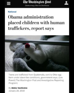 When even the far leftist news outlet known as WaPo covers human trafficking bac