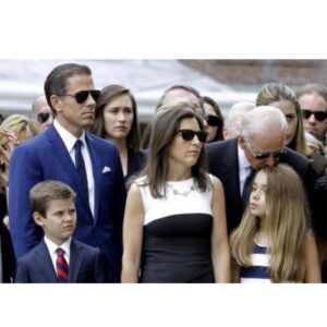 This is a picture from Beau Biden's funeral. Here we have a picture of a young N