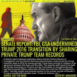 A Senate report released today claims that the Federal Bureau of Investigation a