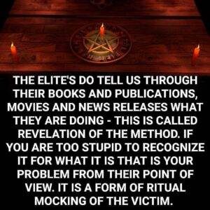 Revelation of the Method concerns mind control in the last stages and at a high