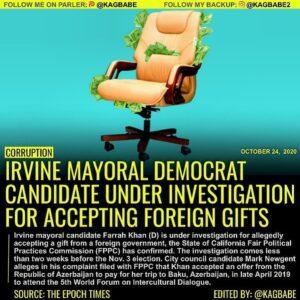 Heads up California • Orange County • IrvineIrvine mayoral candidate Farrah Kh