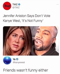Regardless of what you think of Ye, you have to admit his response is funny