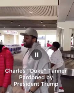 """Charles """"Duke"""" Tanner got to reunite with his son because he was pardoned for a"""