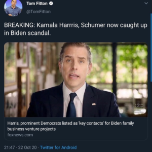 BREAKING: Kamala Harris, Chuck Schumer now caught up in Biden scandal.