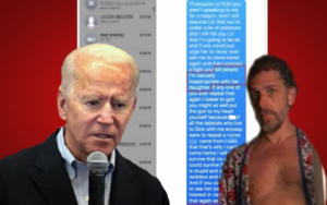 Text Messages Show VP Biden and His Wife Colluded to Suppress HUNTER'S ACTIONS WITH A CERTAIN MINOR