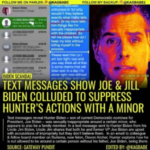 Text messages reveal Hunter Biden – son of current Democratic nominee for Presid